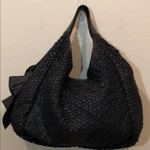 Valentino Garavani Woven Leather Hobo Bag